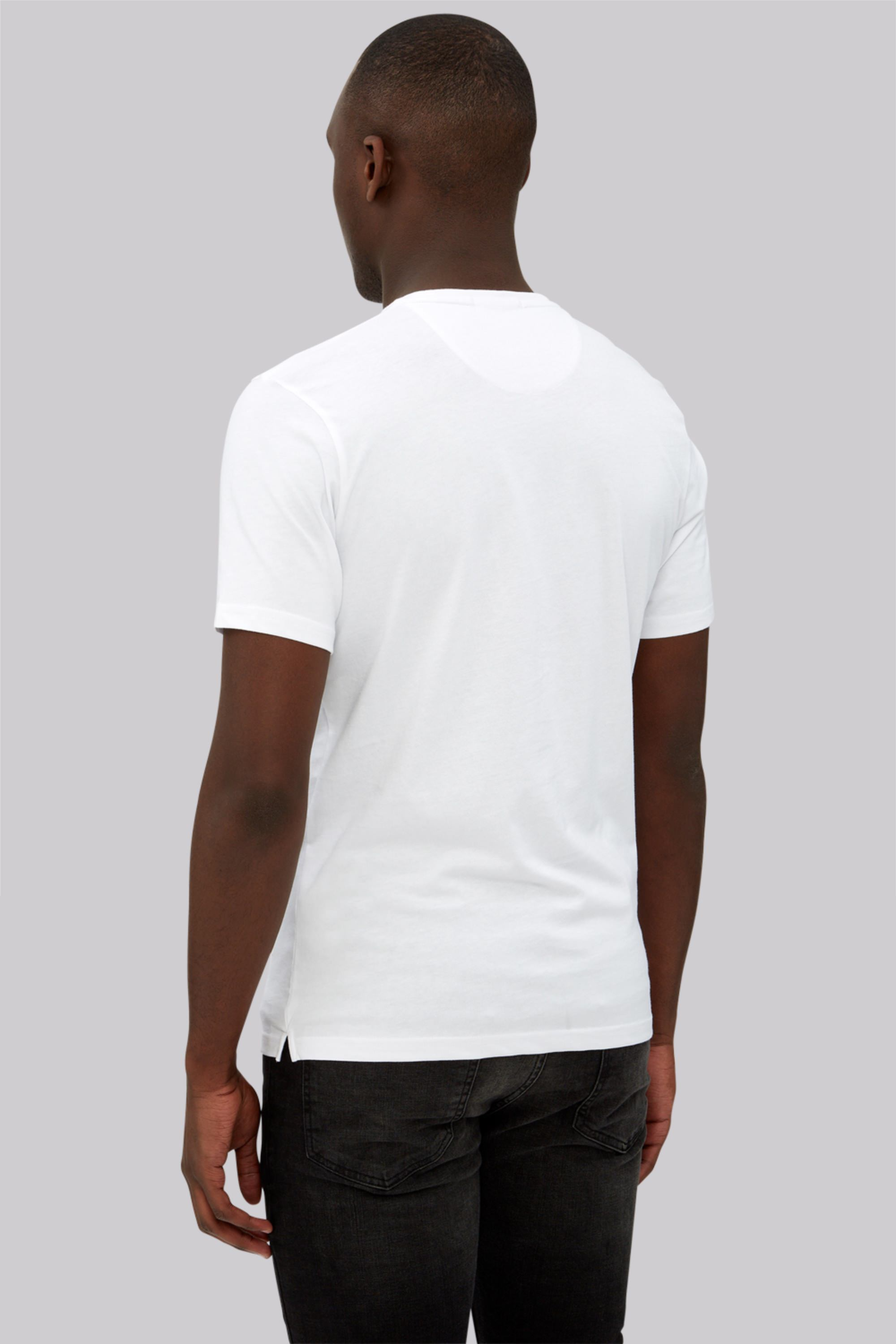 Dkny white logo crew neck t shirt for Crew neck white t shirt