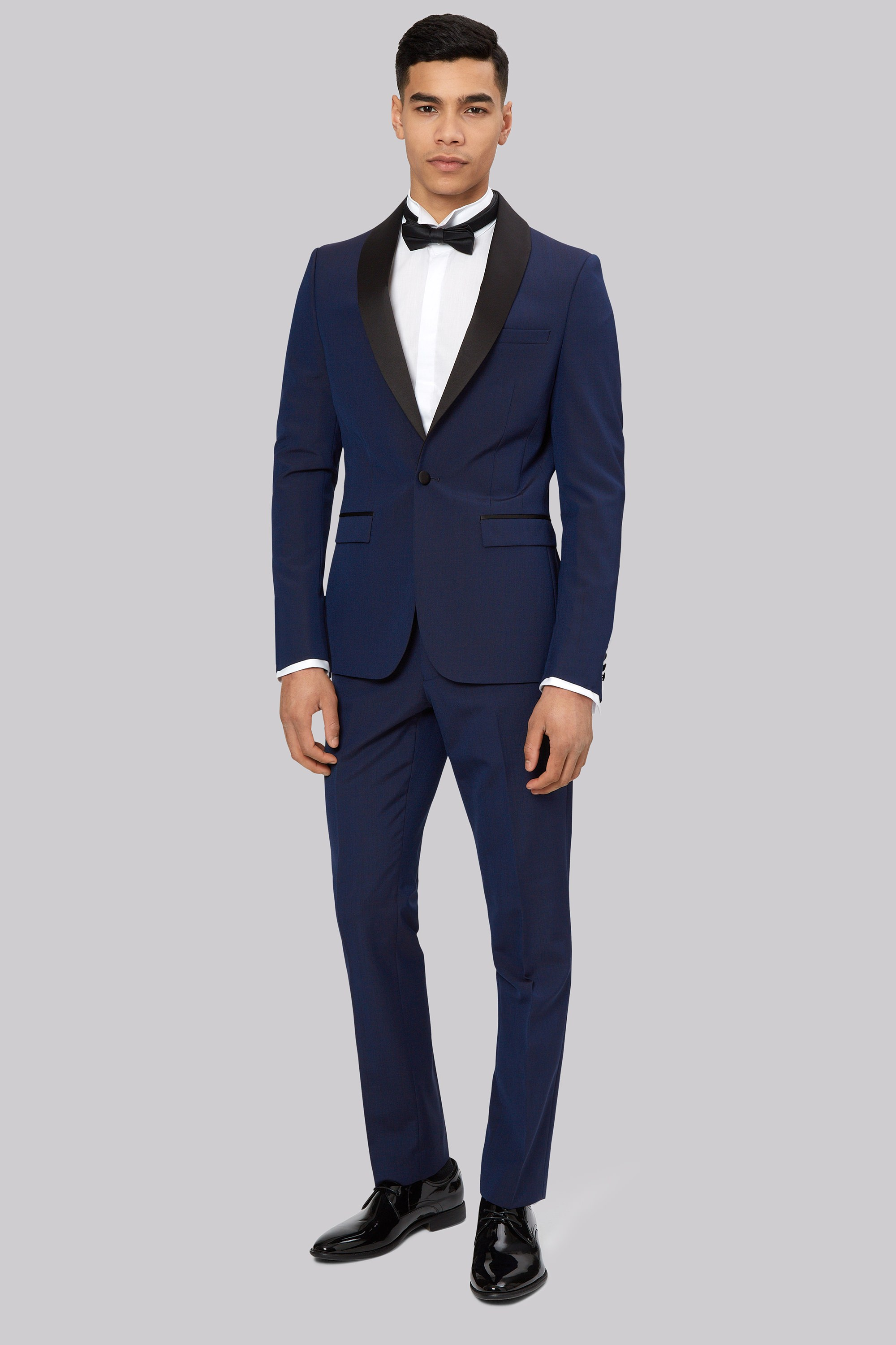 London Skinny Fit Blue Dress Suit