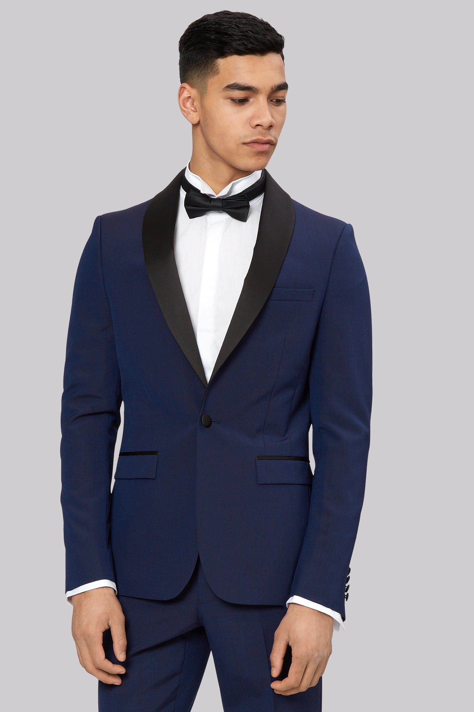 Moss London Skinny Fit Blue Dress Suit