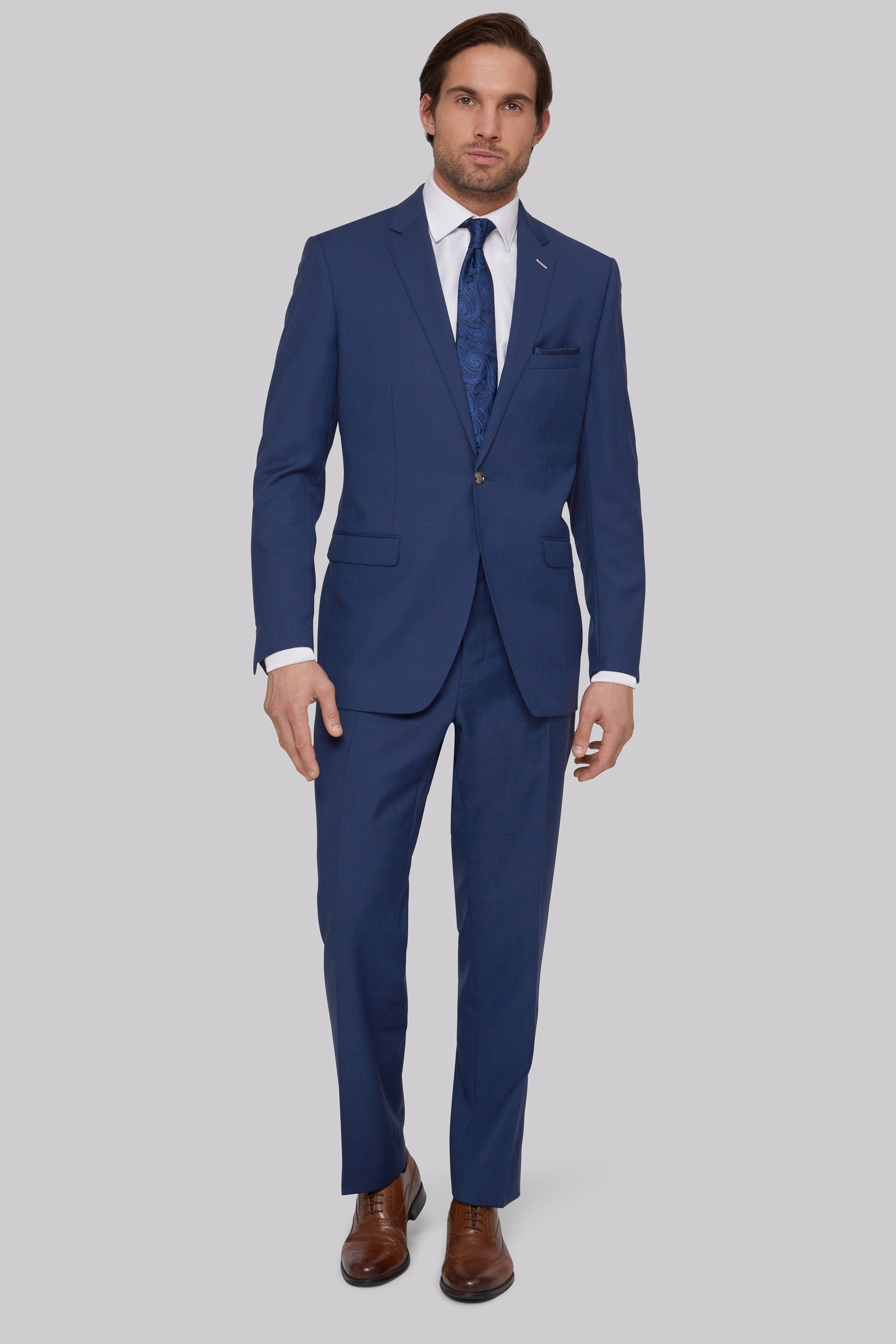 Bros Tailored Fit Bright Blue Suit