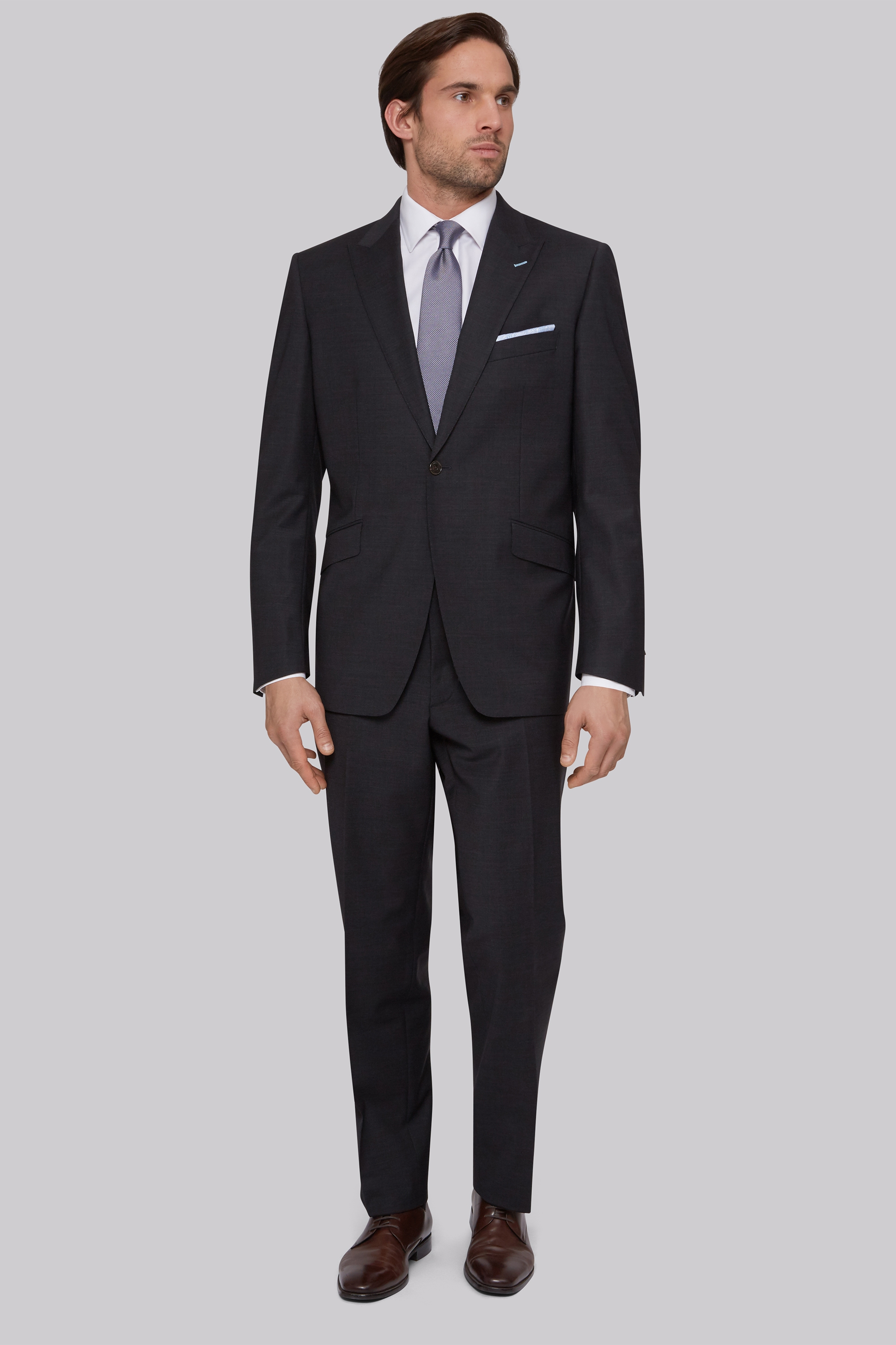 Moss Bros Regular Fit Performance Charcoal Suit