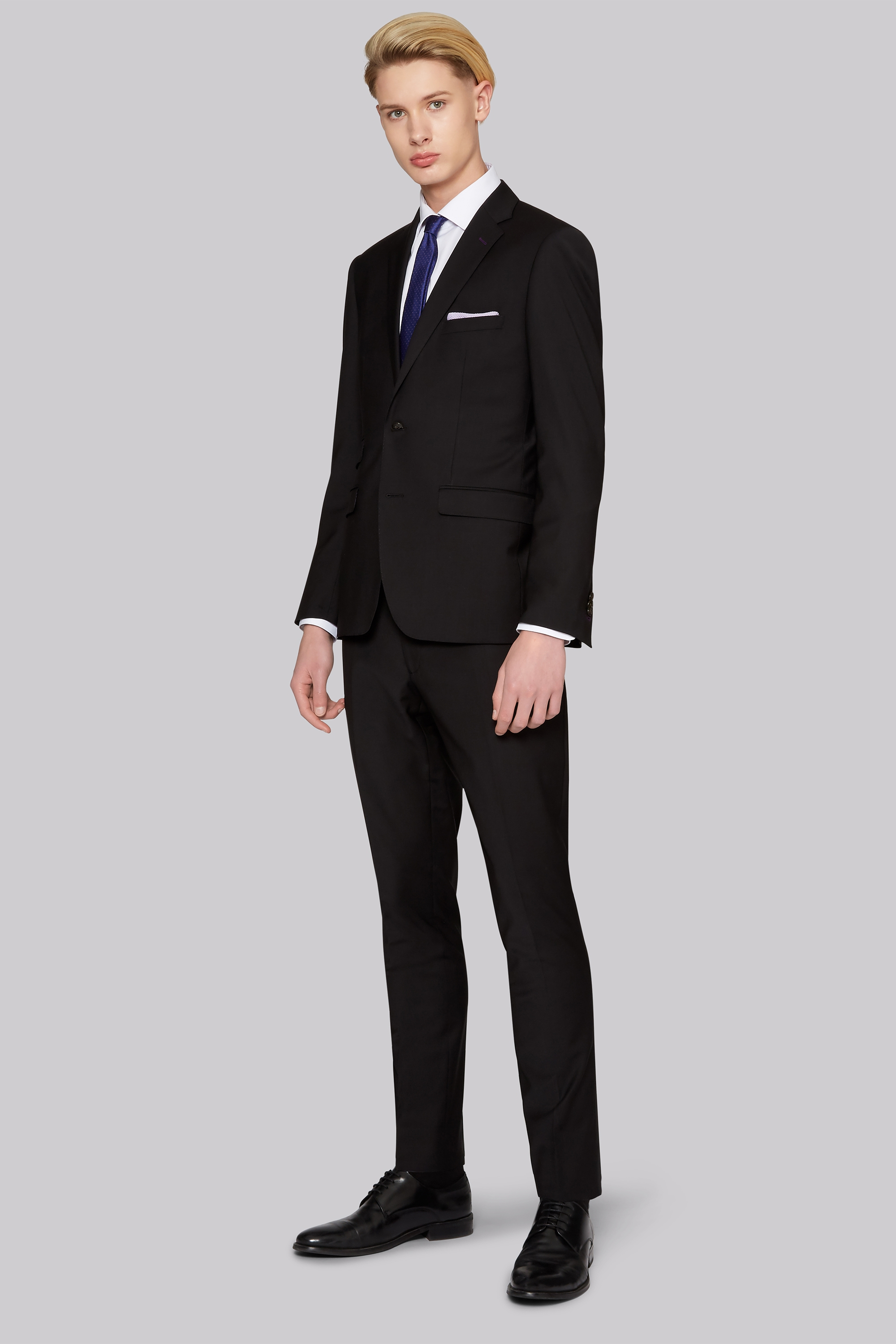 Bros Skinny Fit Performance Black Suit