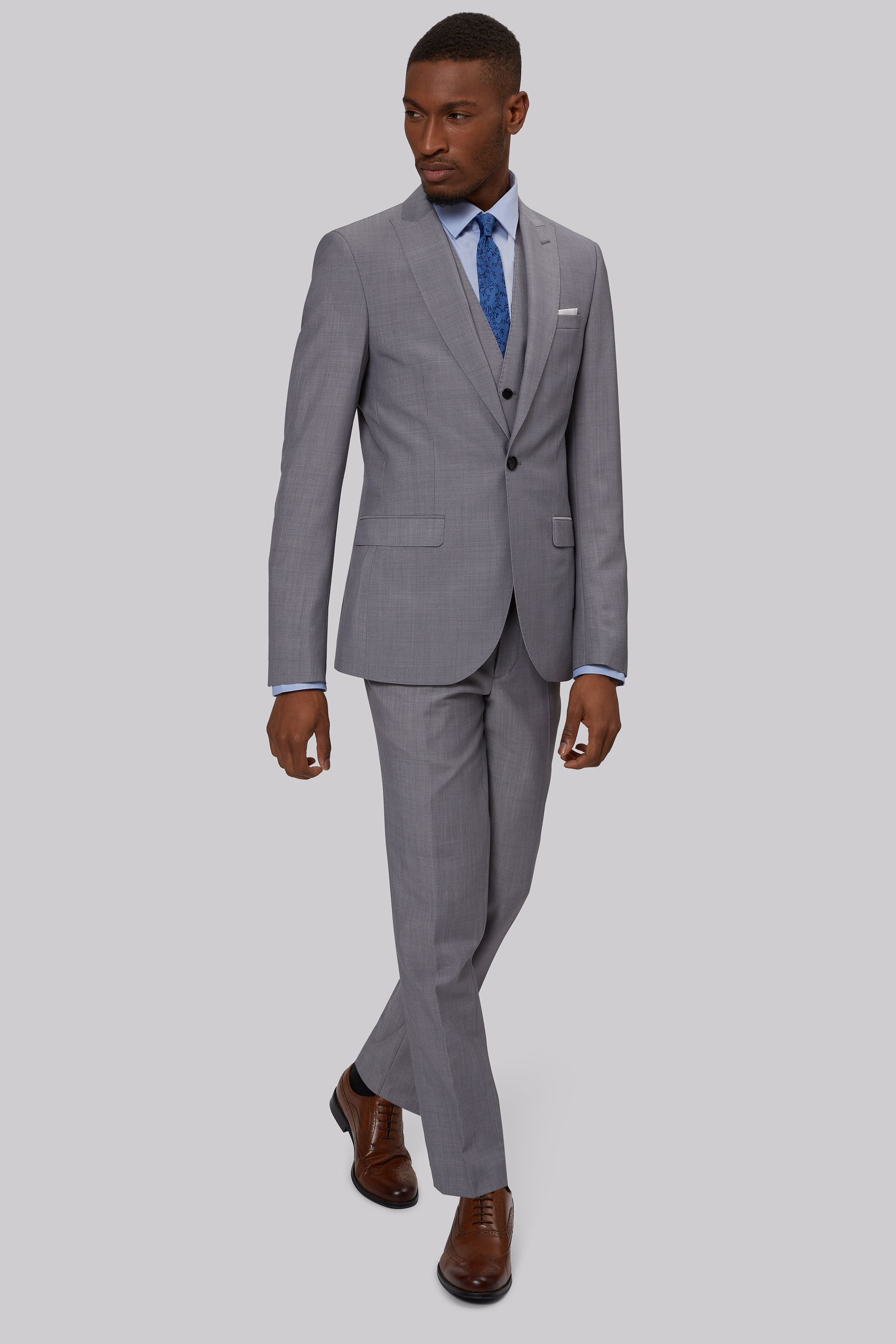 Grey suit jacket slim fit