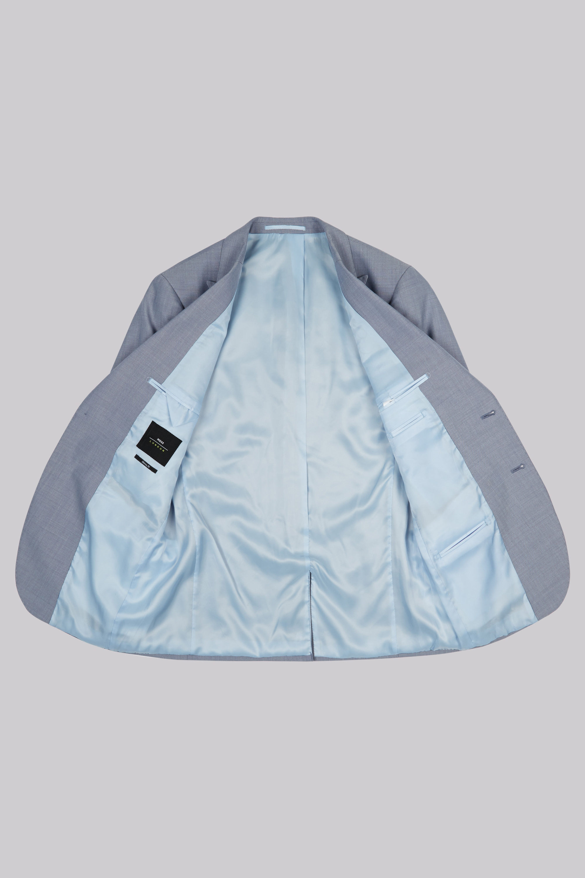 Moss London Skinny Fit Ice Blue Jacket