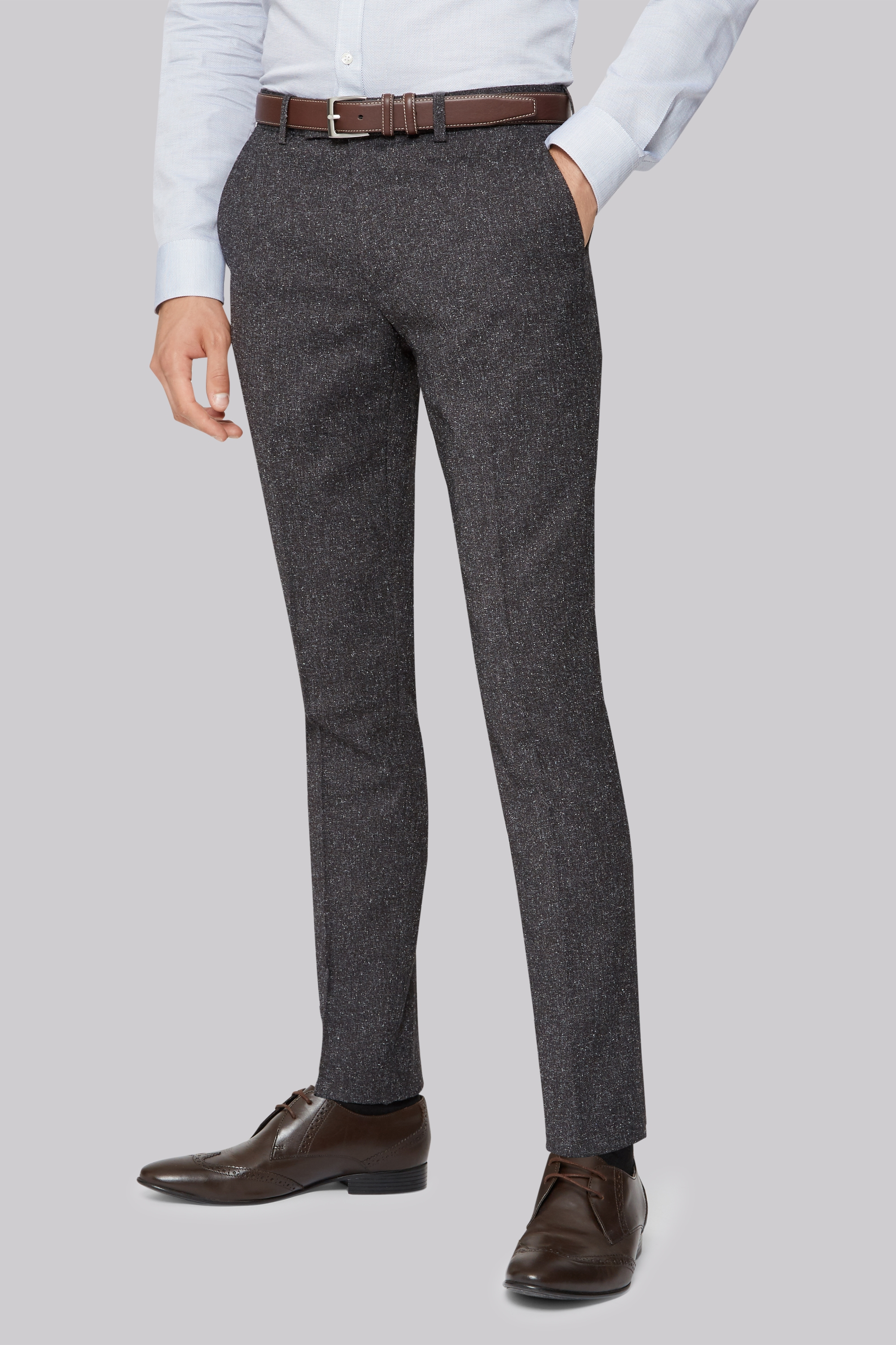 Moss London Skinny Smart Trousers - Charcoal Moss Bros. Sale Best Wholesale VVl1s9D41