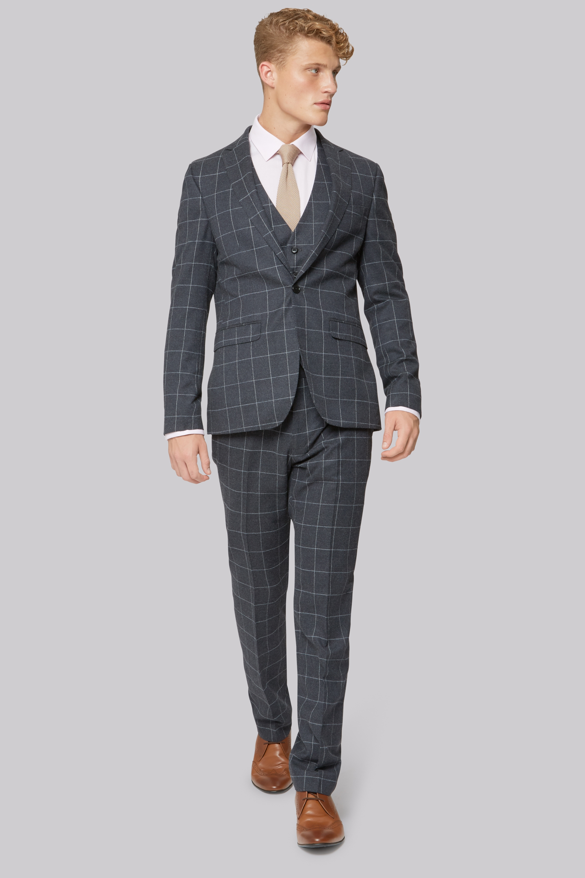 New Cheap Boss Slim-Fit Wool Suit for Men On Sale Outlet