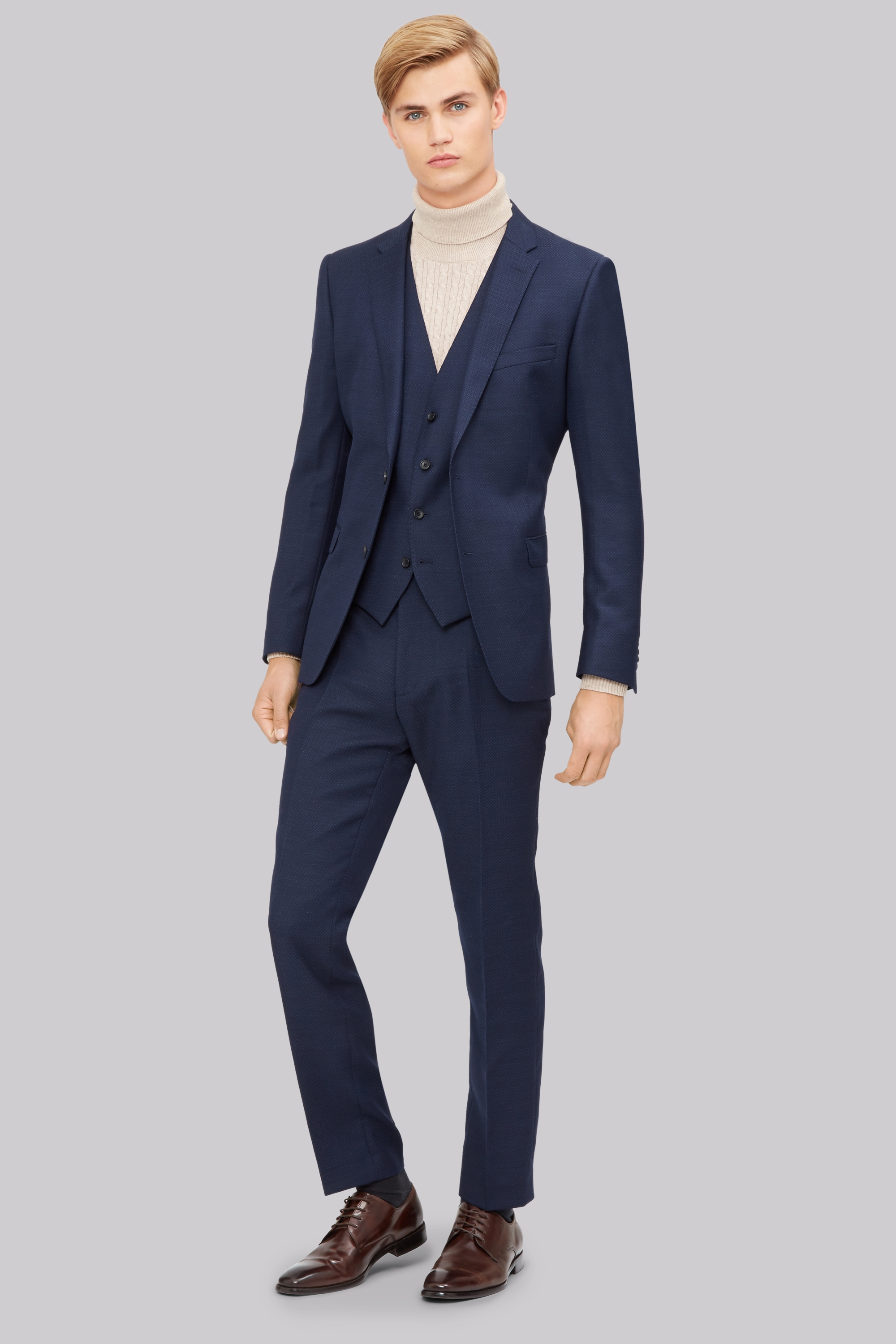 d970309bd5b French Connection Slim Fit Navy Jacquard Jacket