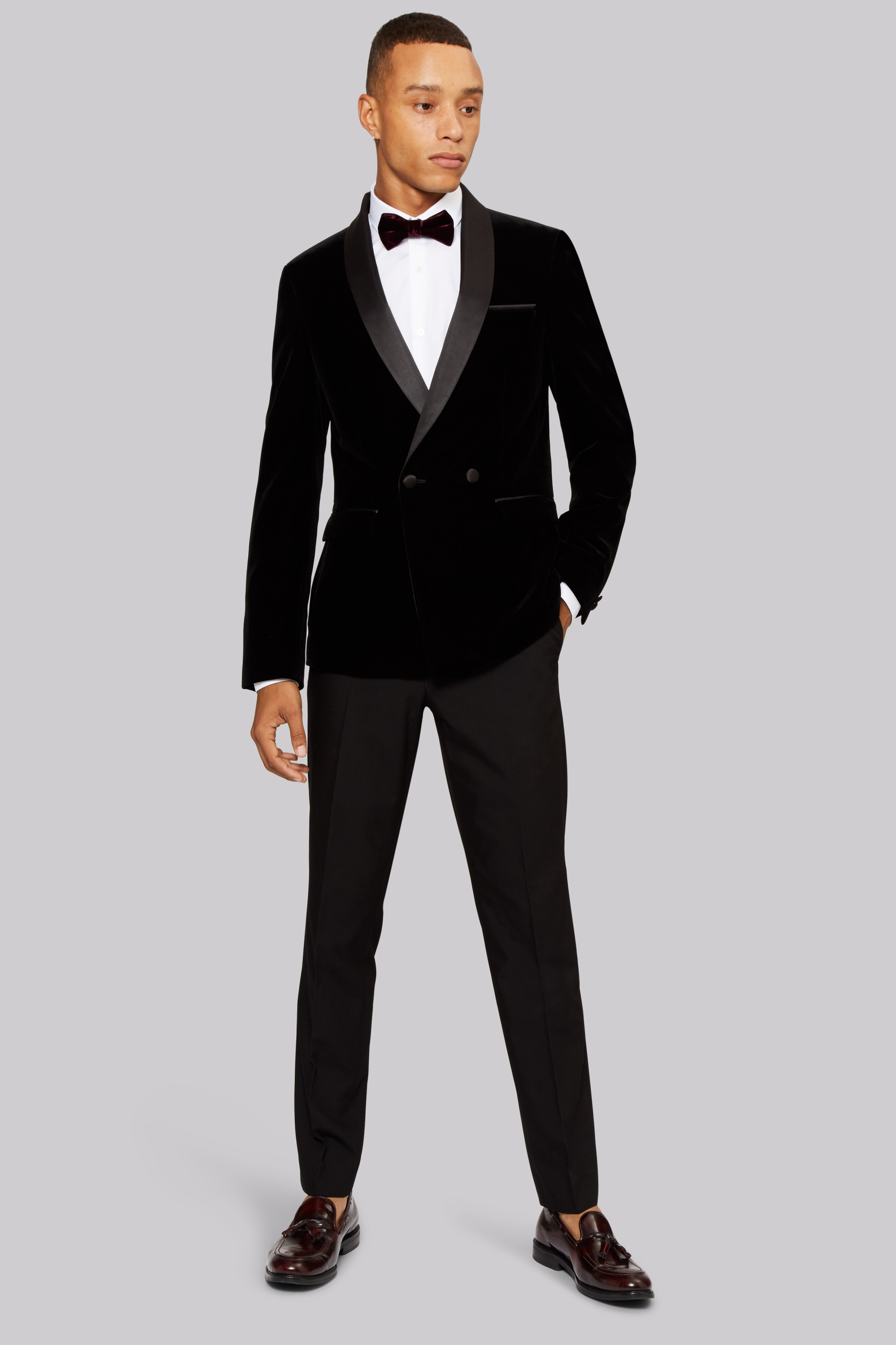 Black tie navy jacket