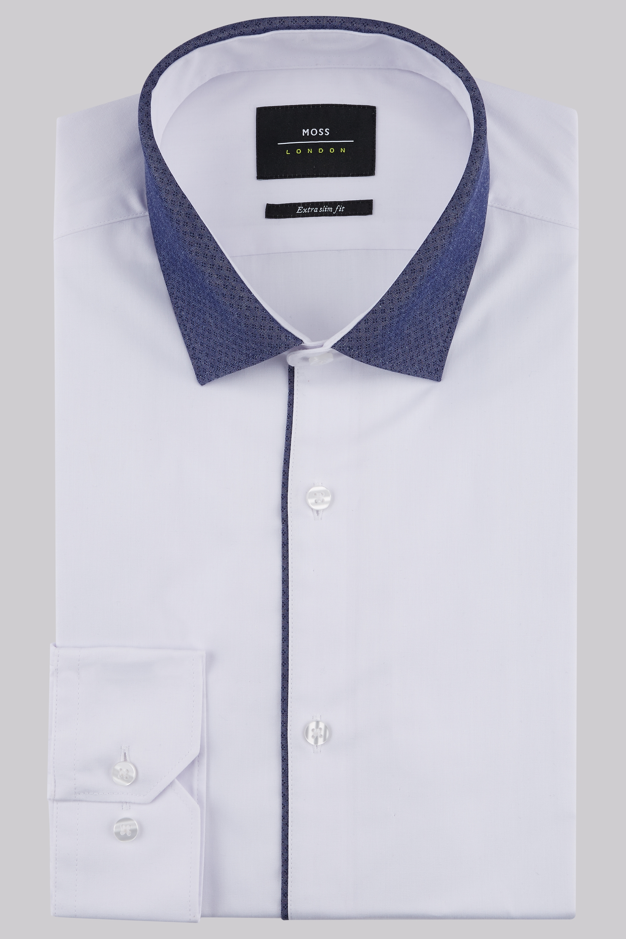 ... Contrast Collar Shirt. prev