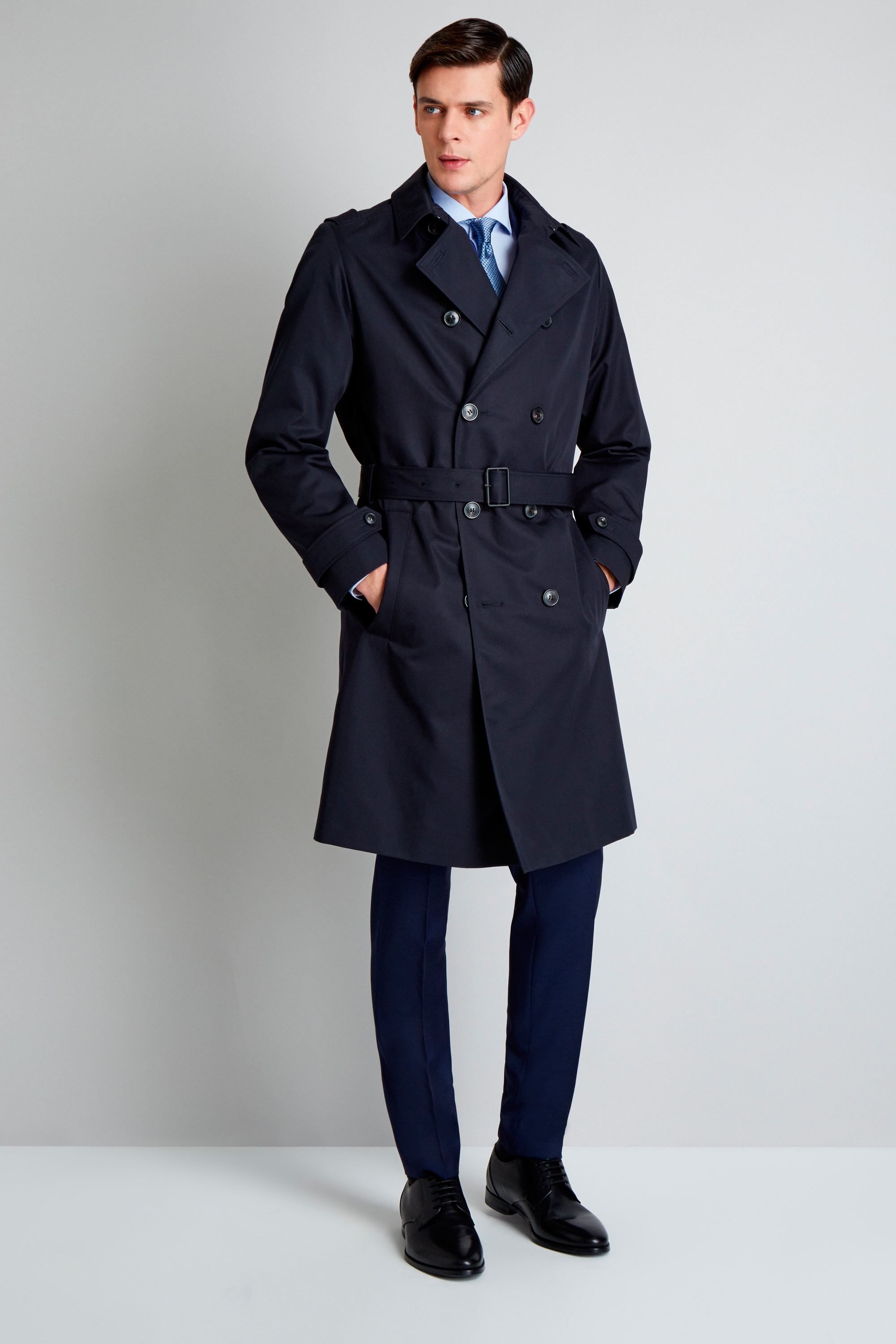 HUGO by Hugo Boss Double Breasted Navy Trench 8fca434a53
