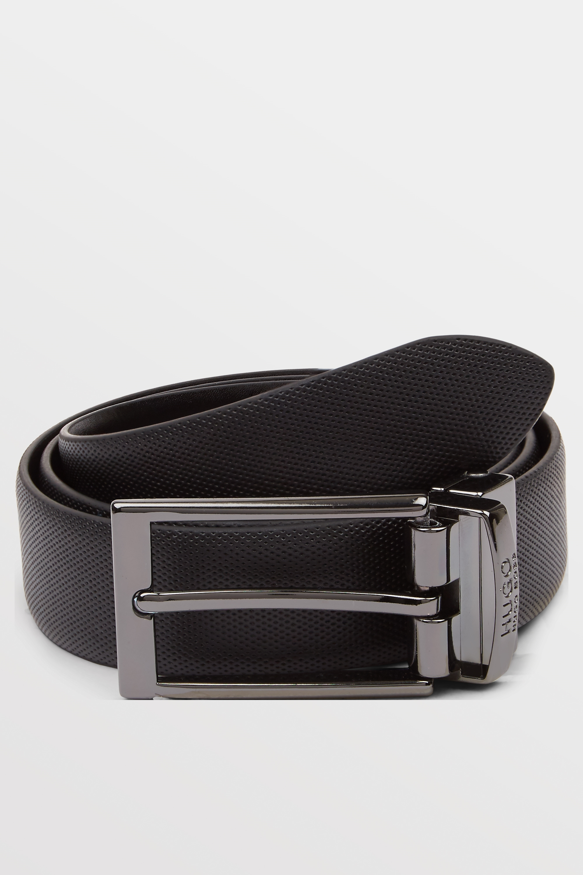 hugo by hugo boss black reversible textured belt. Black Bedroom Furniture Sets. Home Design Ideas