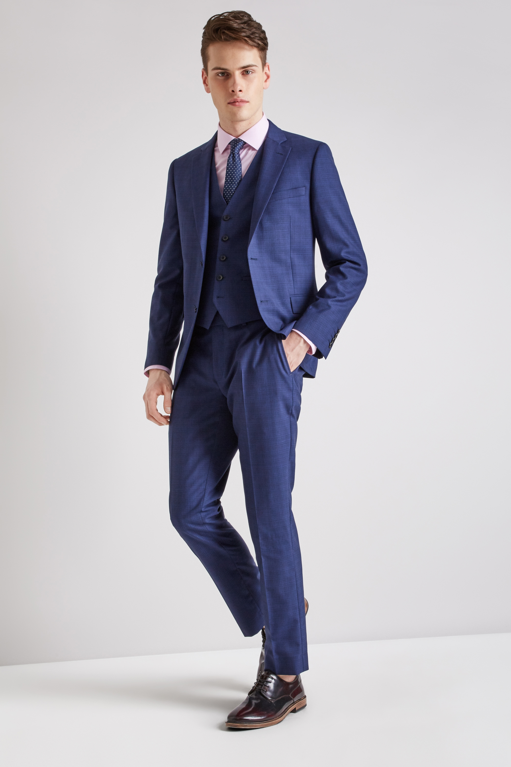 Slim Fit Ink Scratch Suit