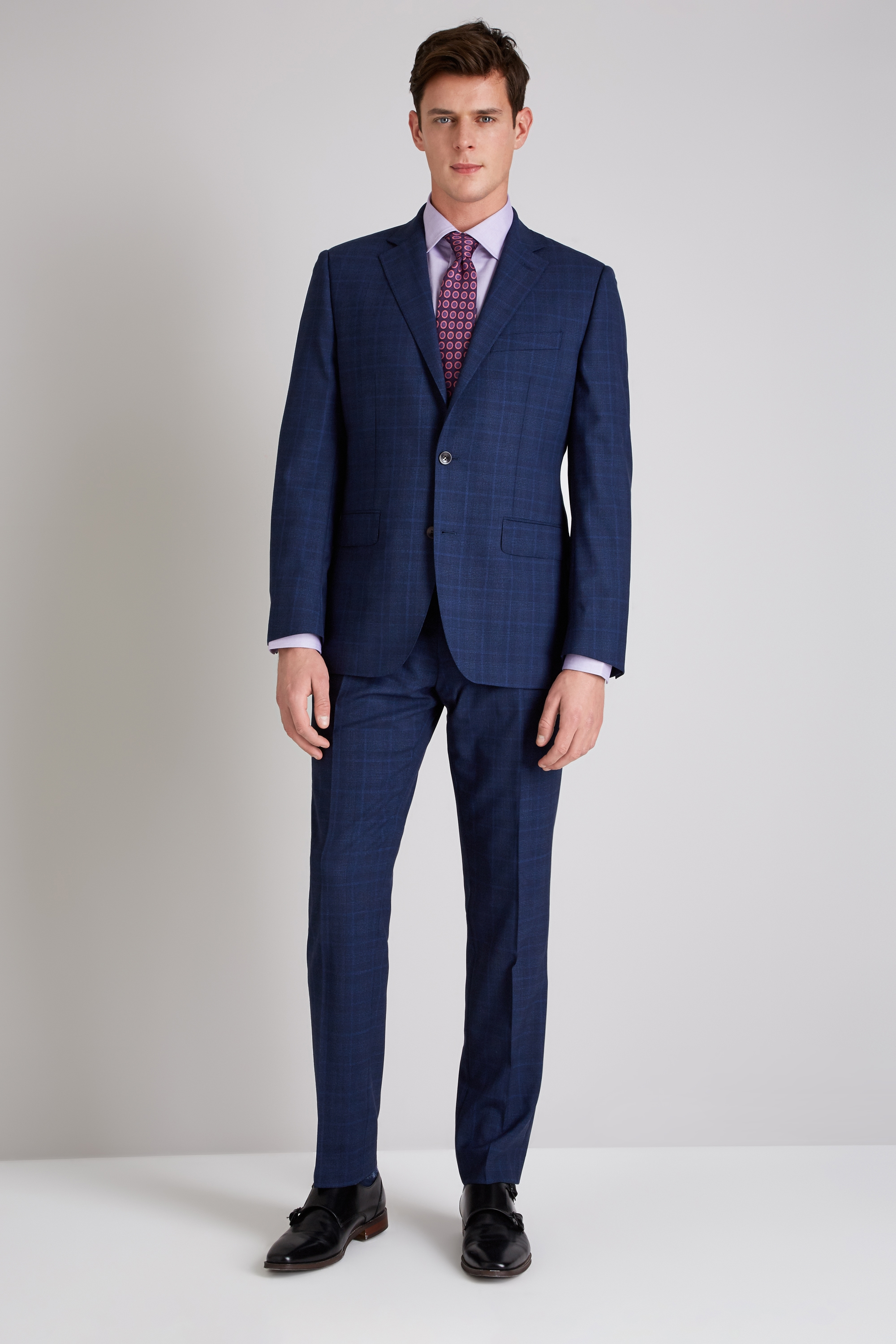 Ermenegildo Zegna Cloth Tailored Fit Navy Check Suit