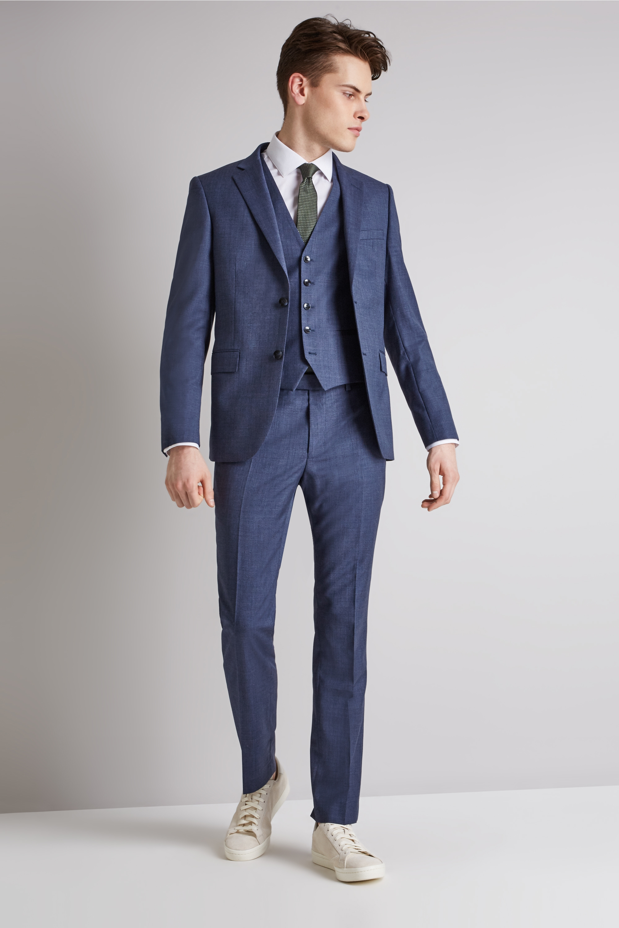Slim Fit Ocean Blue Suit
