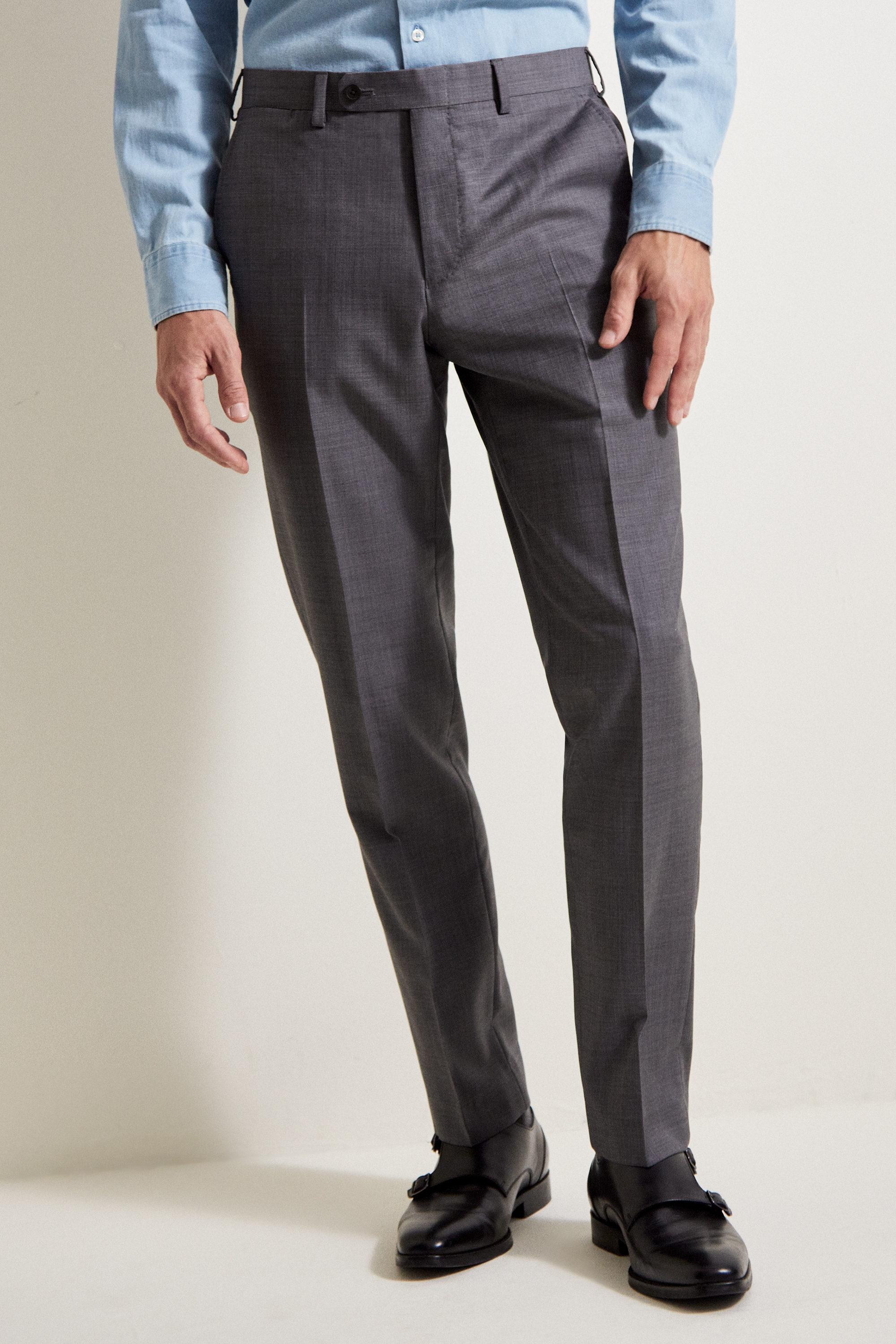Visit New Sale Online Ermenegildo Zegna tailored fitted trousers - Grey Buy Cheap Outlet Free Shipping Collections Best Seller Fake JpzL5Ekj
