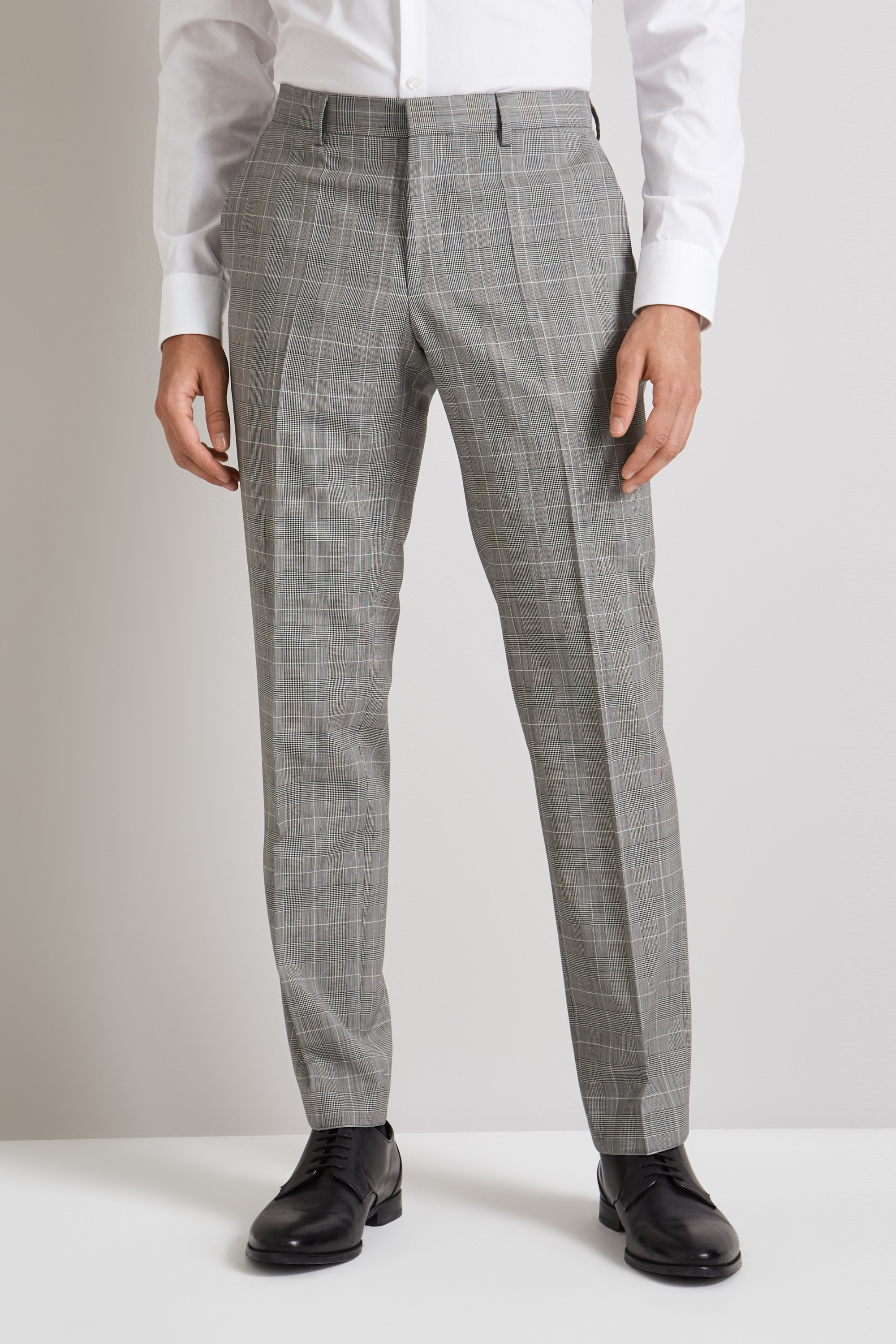 6a049d55c HUGO by Hugo Boss Black and White Prince of Wales Pants