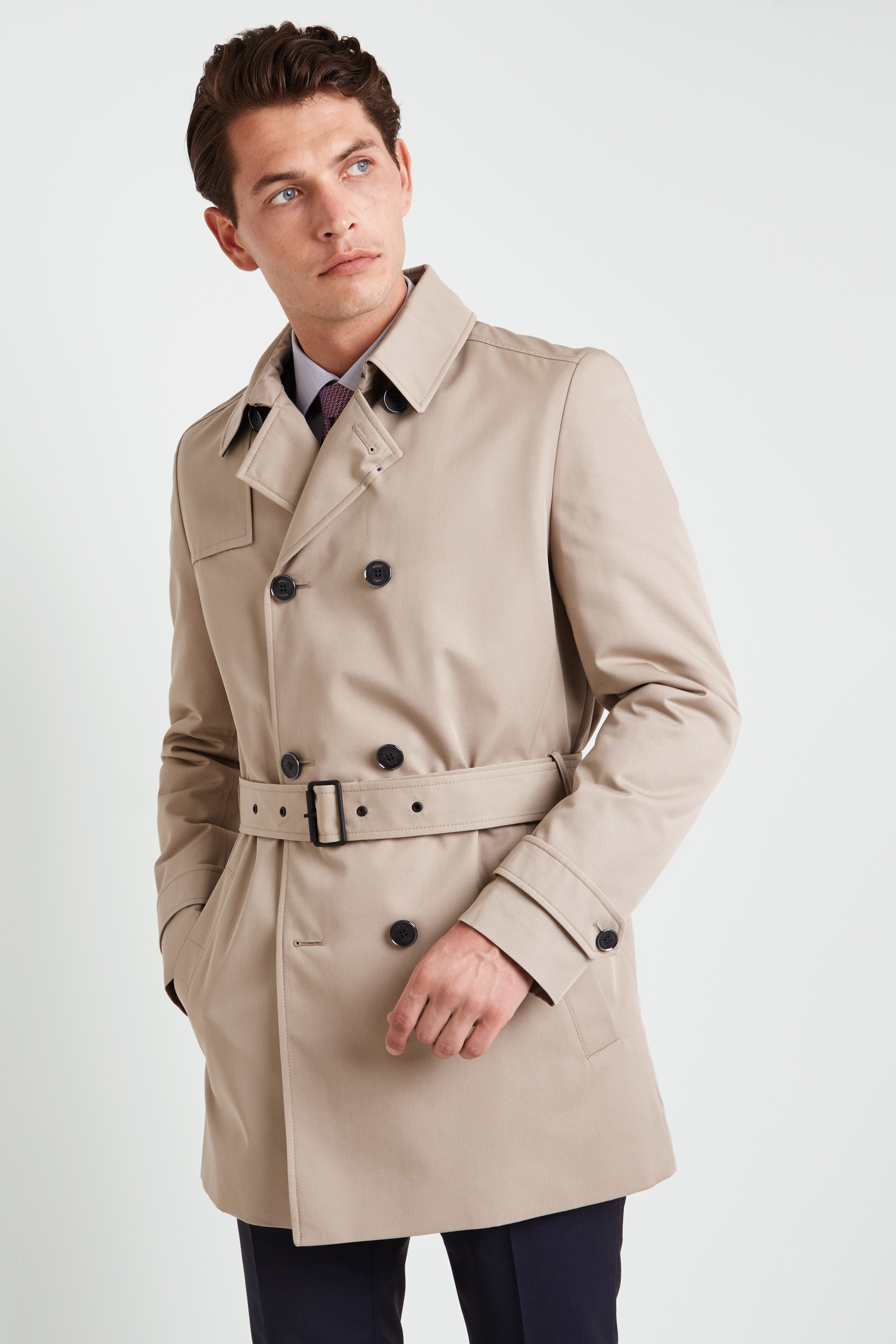 b53be9b858e9 HUGO by Hugo Boss Maluks Double Breasted Trench Coat
