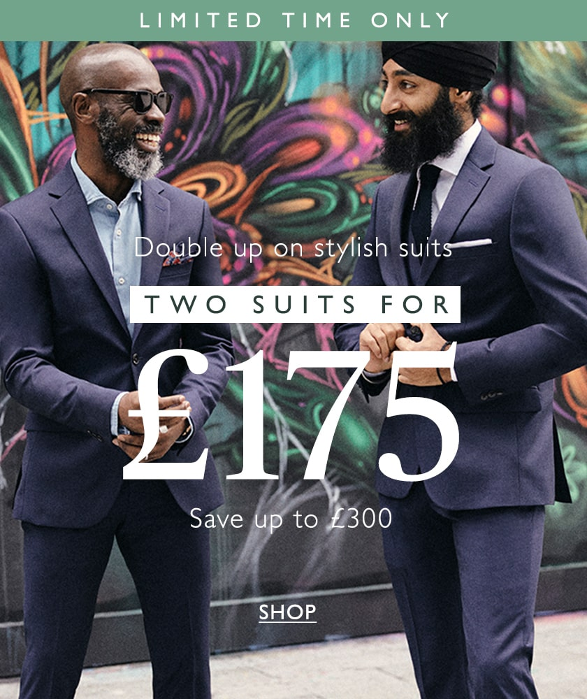 2 suits for £175