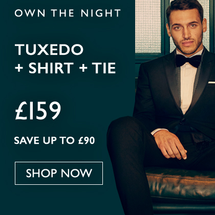 Dinner Suit + Free Shirt And Tie £149